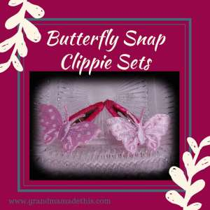 Butterfly Snap Clippie Set