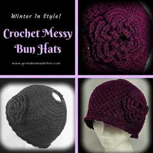 Crochet Messy Bun ~ Pony Tail Hats