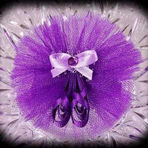 Ballerina Slippers Ribbon Sculpture Purple 1