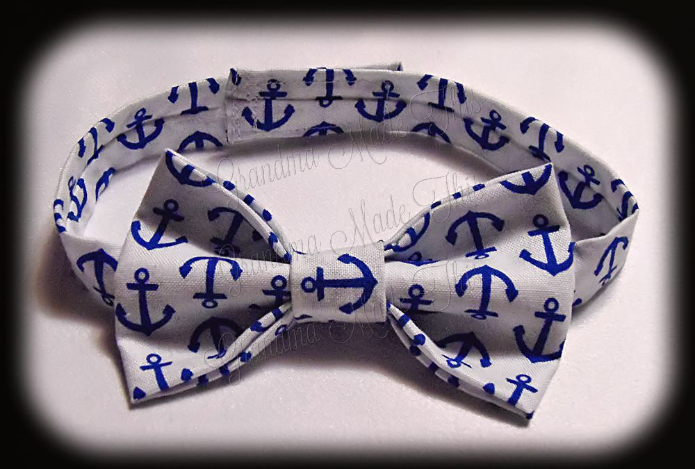 Boy's Bow Tie - Anchors Away