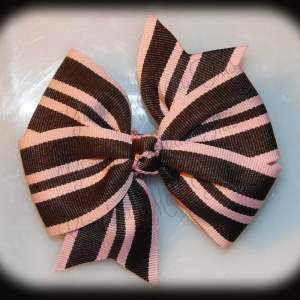 Stripes Large Quad Pinwheel Hair Bows