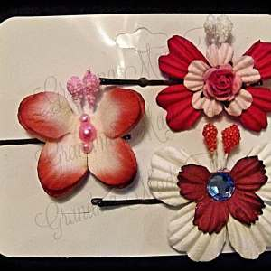 Mulberry Paper Butterfly Bobby Pin Set 12
