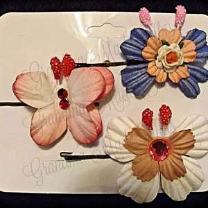 Mulberry Paper Butterfly Bobby Pin Set 13