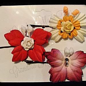 Mulberry Paper Butterfly Bobby Pin Set 14