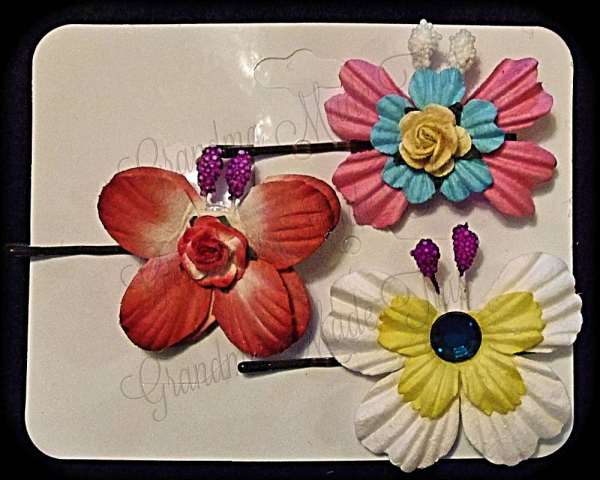 Mulberry Paper Butterfly Bobby Pin Set 20