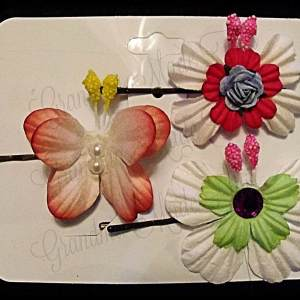 Mulberry Paper Butterfly Bobby Pin Set 3