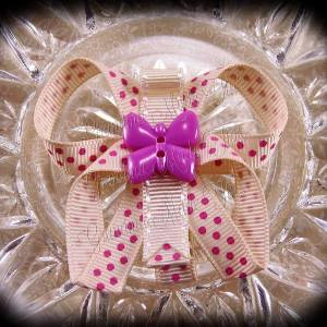 Polka Dots Butterfly Ribbon Sculpture Hair Clips