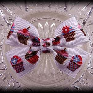 Foods Double Bow-Tie Hairclips