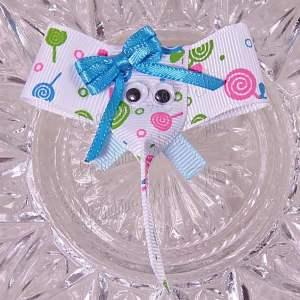 Lollipops Print Elephant Ribbon Sculpture Hairclips