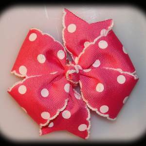 Polka Dots Large Quad Pinwheel Hair Bows