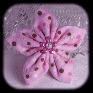 Kanzashi Flannel Star Hair Bow 11