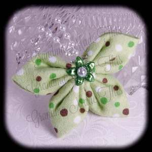 Kanzashi Flannel Butterfly Hair Bow 10