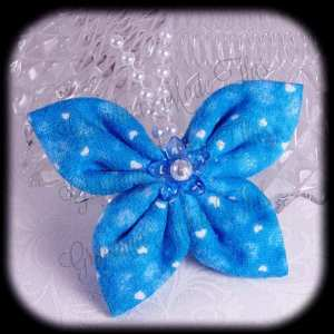 Kanzashi Flannel Butterfly Hair Bow 9