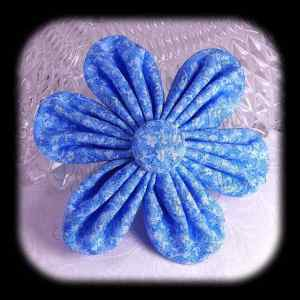 Kanzashi Flower Orchid Petals Down Hair Bow 10
