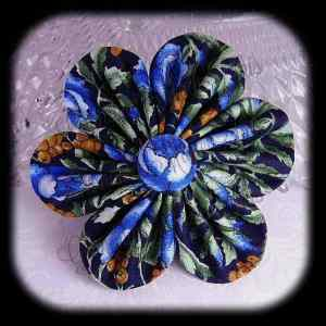 Kanzashi Flower Orchid Petals Down Hair Bow 16
