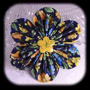 Kanzashi Flower Orchid Petals Up Hair Bow 22