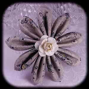 Kanzashi Flower Petals Down Hair Bow 14