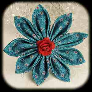 Kanzashi Flower Petals Up Hair Bow 12