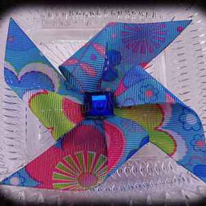 Large Pinwheel Hair Clips Floral