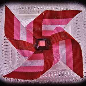Large Pinwheel Hair Clips Stripes