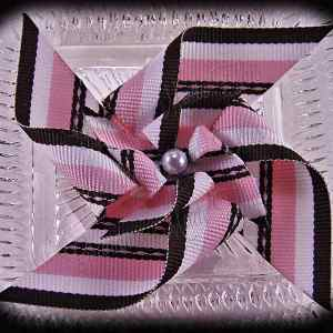 Large Stacked Pinwheel Hair Clips Pinks Browns