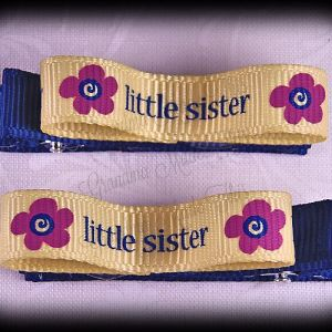 Little Sister Lil Loop Ribbon Hair Clip Set
