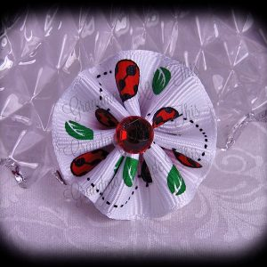Petite Wavy Flower Hair Bow Animal