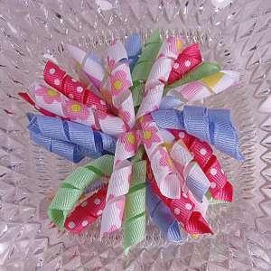 Pink Daisies 1 Korker Ribbon Bow