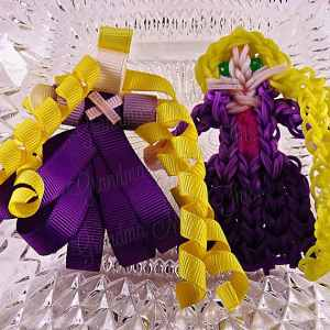 Princess Rapunzel Ribbon Sculpture Hairclip Loom Doll Set