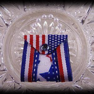 Purse Ribbon Sculpture Double Side Ribbon Patriotic Stars