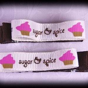 Sugar n Spice Lil Loop Ribbon Hair Clip Set