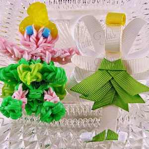 Tinkerbell Ribbon Sculpture Hairclip Loom Doll Set Two