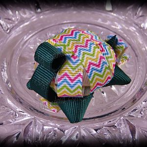 Turtle Ribbon Sculpture Multi Chevron Stripes