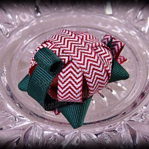 Turtle Ribbon Sculpture Red Chevron Stripes