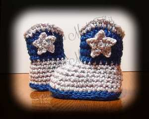 Crochet Cowboy Cowgirl Boots