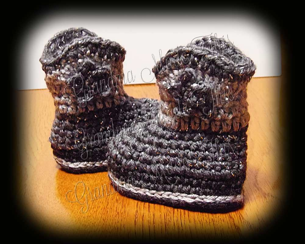 Cowboy Boots - Charcoal-Gray-Silver Sparkle