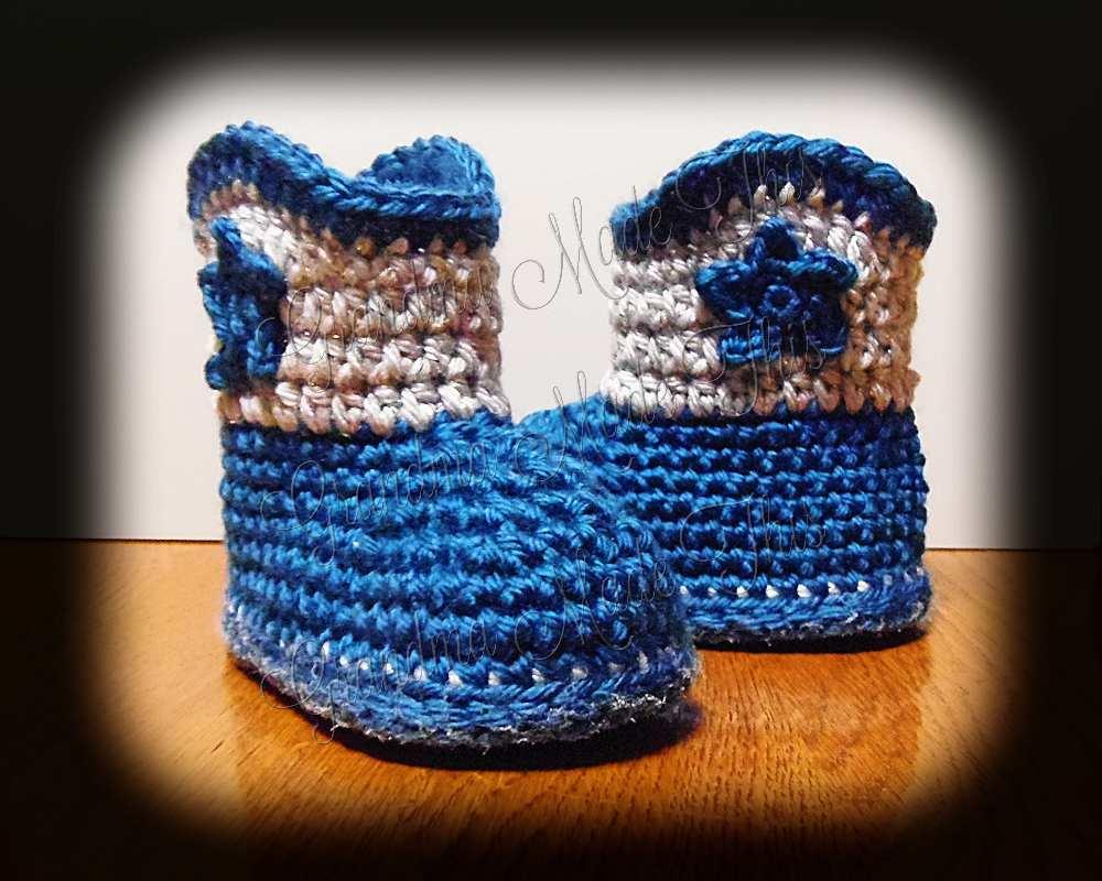 Cowboy Boots - Ocean Blue Silver Sparkle