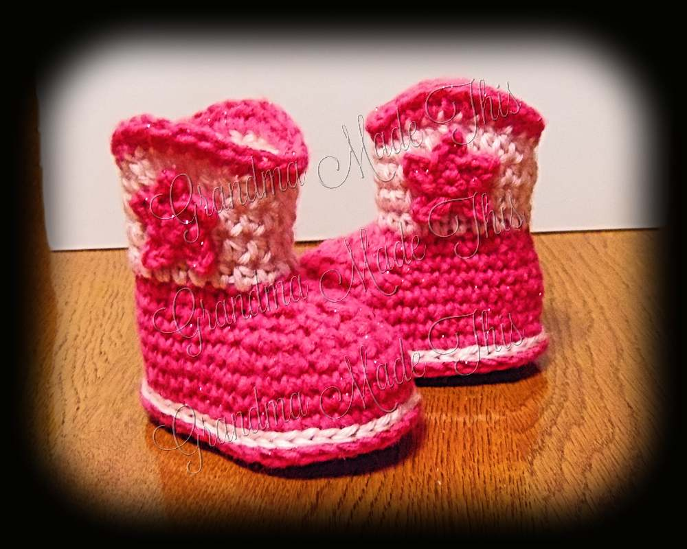 Cowgirl Boots - Hot Pink Sparkle Light Pink