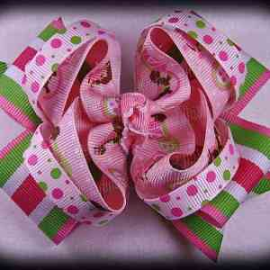 Twisted Ribbon Hair Bows