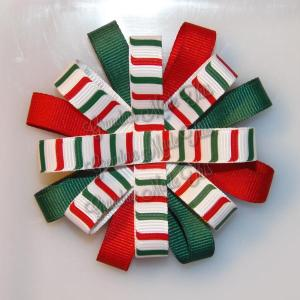 Christmas Loopy Flower Bows