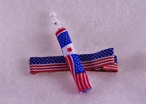 Firecracker Hairclip Flag-Medium (5)