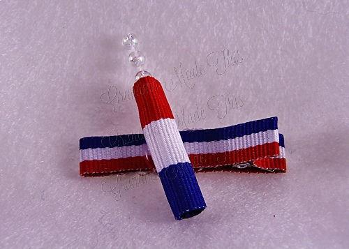 Firecracker Hairclip RWB-Medium (2)