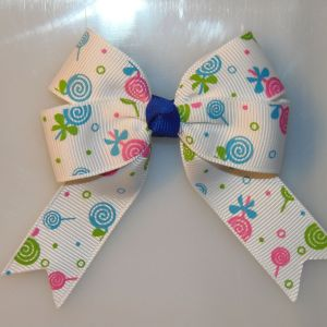 Food Long Tail Quad Hair Bows