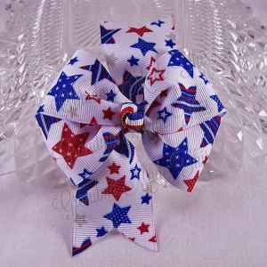 Patriotic Large Quad Pinwheel Hair Bows