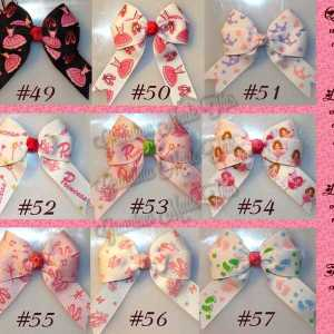 Princess Long Tail Quad Hair Bows