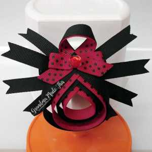 Halloween Spider Ribbon Sculpture Small Hairclips