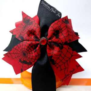 Halloween Spike Ribbon Hair Bows