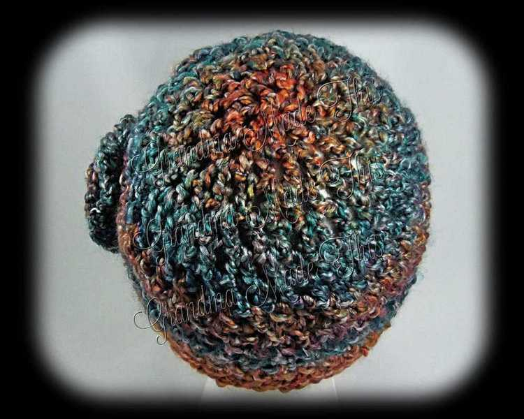 Crochet Waffle Hat - Painted Dessert BackTop
