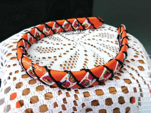 Halloween Child Woven Headband JackOLanters Orange