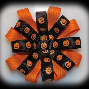 Halloween Loopy Flower Bows